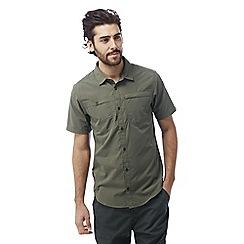 Craghoppers - Parka green Kiwi trek short-sleeved button shirt