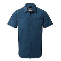 Craghoppers - Vintage indigo kiwi trek short sleeved shirt