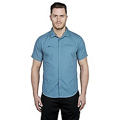 Craghoppers - Provincial blue kiwi trek short-sleeved shirt
