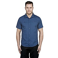 Craghoppers - Faded indigo kiwi trek short-sleeved shirt