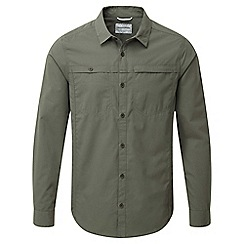 Craghoppers - Parka green Kiwi trek long sleeved button shirt