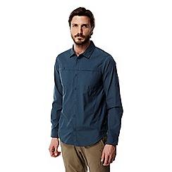 Craghoppers - Vintage indigo kiwi trek long sleeved shirt