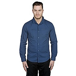 Craghoppers - Faded indigo kiwi trek long-sleeved shirt