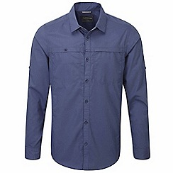Craghoppers - Dusk blue kiwi trek long sleeved button shirt