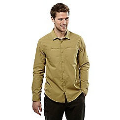 Craghoppers - Light olive kiwi trek long sleeved button shirt