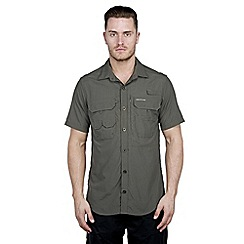 Craghoppers - Dark khaki nosilife short-sleeved angler shirt
