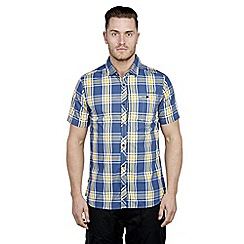 Craghoppers - Denim blue hassan short-sleeved shirt