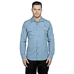 Craghoppers - Provincial blue nosilife long-sleeved angler shirt