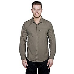Craghoppers - Olive drab kiwi pro lite long-sleeved shirt