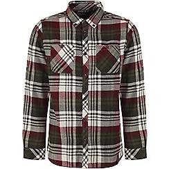 Craghoppers - Dark khaki ellerton long-sleeved shirt
