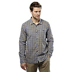 Craghoppers - Dusk blue check claude long sleeved shirt