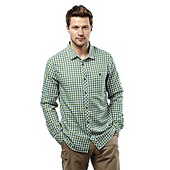 Craghoppers - Lake green check claude long sleeved checked shirt