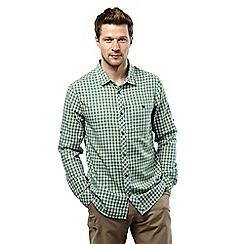 Craghoppers - Lake green check claude long sleeved checked shirt