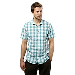 Craghoppers - Bright teal check edgard short sleeved checked shirt