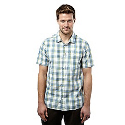 Craghoppers - China blue check edgard short sleeved checked shirt