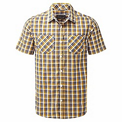 Craghoppers - Dusk blue check corin short sleeved shirt