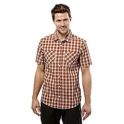 Craghoppers - Rust check corin short sleeved checked shirt