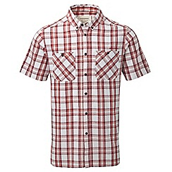 Craghoppers - Brick red check edmond short sleeved button shirt