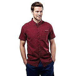 Craghoppers - Brick red dobby edmond short sleeved button shirt