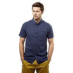 Craghoppers - Dusk blue dobby edmond short sleeved button shirt