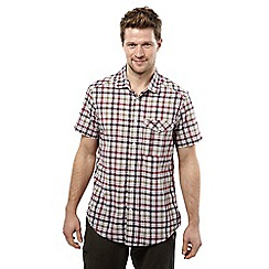 Craghoppers - Chesterfield red avery short sleeved check shirt