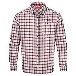 Craghoppers - Brick red check nosilife tristan long-sleeved shirt