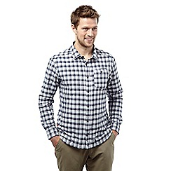 Craghoppers - Dark navy check insect repelling tristan long-sleeved shirt
