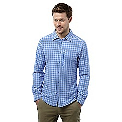 Craghoppers - Sport blue check nosilife albert long sleeved shirt