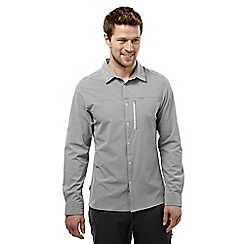 Craghoppers - Light grey nosilife albert long sleeved shirt