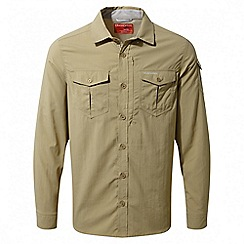 Craghoppers - Camel Nosilife adventure long sleeved shirt