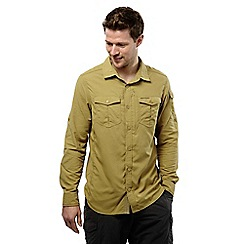 Craghoppers - Light olive nosilife adventure long-sleeved shirt