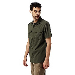 Craghoppers - Dark khaki Nosilife adventure short sleeved shirt