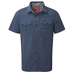 Craghoppers - Dusk blue nosilife adventure short-sleeved shirt