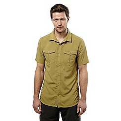 Craghoppers - Light olive nosilife adventure short-sleeved shirt