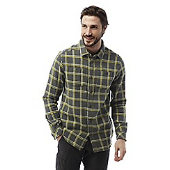 Craghoppers - Dark grey Gillam long sleeved check shirt