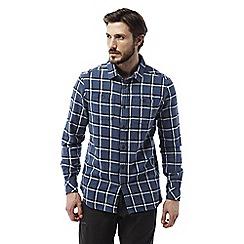 Craghoppers - Vintage indigo Gillam long sleeved check shirt