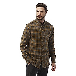 Craghoppers - Dirty olive Kearney long sleeved check shirt