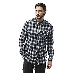 Craghoppers - Dark navy Kearney long sleeved check shirt