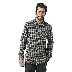 Craghoppers - Dark grey Brigden long sleeved check shirt