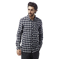 Craghoppers - Storm navy Brigden long sleeved check shirt