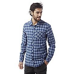 Craghoppers - Vintage indigo Brigden long sleeved check shirt