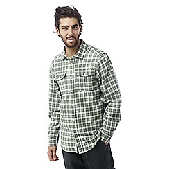 Craghoppers - Lake green Kiwi long sleeved check shirt