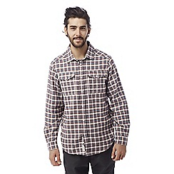 Craghoppers - Oxblood Kiwi long sleeved check shirt