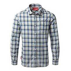 Craghoppers - Deep blue combo Nosilife prospect long sleeved check shirt