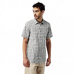 Craghoppers - Quarry grey combo elmwood short sleeved check shirt