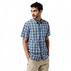 Craghoppers - Deep blue combo elmwood short sleeved check shirt