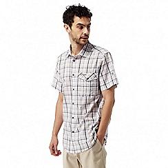 Craghoppers - Dark grey combo Westlake short sleeved check shirt
