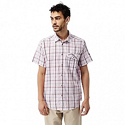 Craghoppers - Oxblood combo Westlake short sleeved check shirt