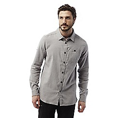 Craghoppers - Quarry grey marl Flint long sleeved check shirt