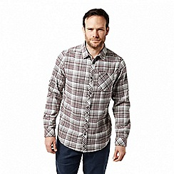 Craghoppers - Grey 'Bjorn' long sleeved check shirt